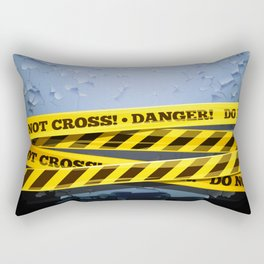 Grunge Background With Danger Tapes Rectangular Pillow