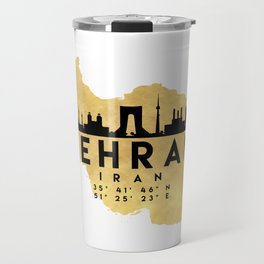 TEHRAN IRAN SILHOUETTE SKYLINE MAP ART Travel Mug