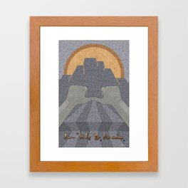 Perseverance - (Artifact Series) Framed Art Print