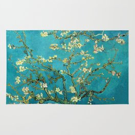 Vincent Van Gogh Blossoming Almond Tree Rug