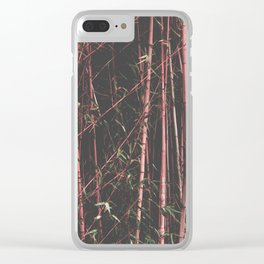 bamboo pink Clear iPhone Case