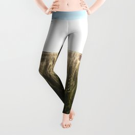 Wheat Field Sunset Photography Print Leggings