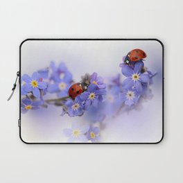 Ladybirds on Forget-me-not Laptop Sleeve