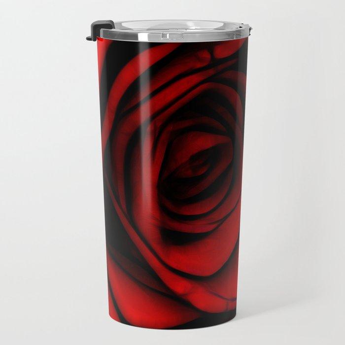 Reddest Rose Travel Mug