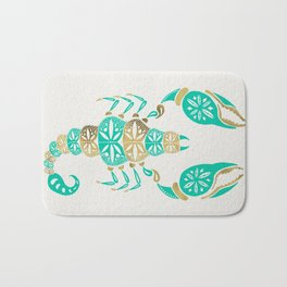 Scorpion – Turquoise & Gold Bath Mat