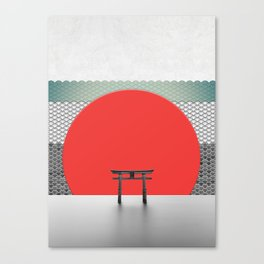 The Red Sun Canvas Print