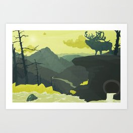 The Abandoned Frontier Art Print