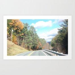 Autumn in Vermont 1 Art Print
