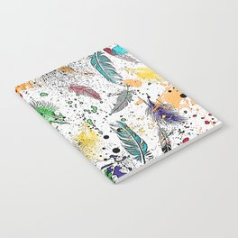 Feathers and Splats Notebook