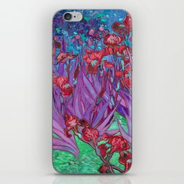 Vincent Van Gogh Irises Painting Cranberry Purple Palette iPhone Skin