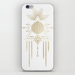 Golden Goddess Mandala iPhone Skin