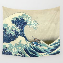 Katara Riding the Wave Wall Tapestry