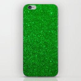 Emerald Green Shiny Metallic Glitter iPhone Skin