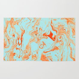 Flamingo + Sea Marble #society6 #decor #buyart Rug