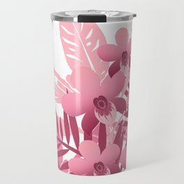 Bouquet of pink tropical plants Travel Mug