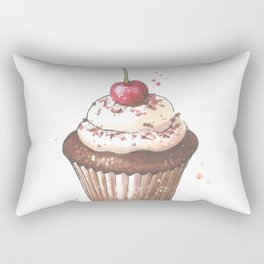 Delicious cupcake with cherry on top Rectangular Pillow