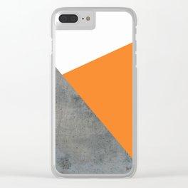 Concrete Tangerine White Clear iPhone Case