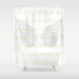 The First Noel angel wings Shower Curtain