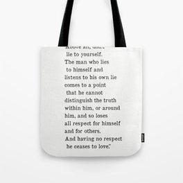 Fyodor Dostoyevsky quote Tote Bag