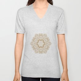 Mandala Temptation in Cream Unisex V-Neck