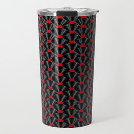 Covered in Vinyl / Vinyl records arranged in scale pattern Travel Mug