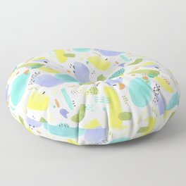 Chubby Watercolor marks Floor Pillow