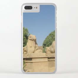 The Avenue of Sphinxes Clear iPhone Case