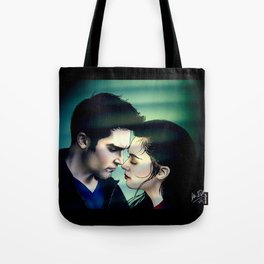 Girls don't hide in closets with good ideas - Derek and Allison  Tote Bag