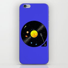 Solar System Vinyl Record iPhone Skin
