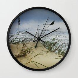 Dune and Beach Grass on Padre Island National Seashore Wall Clock