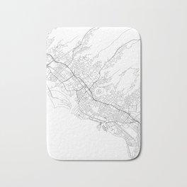 Honolulu White Map Bath Mat