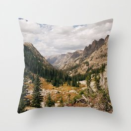 The View from Above 10,000 ft - Wyoming Wilderness Throw Pillow