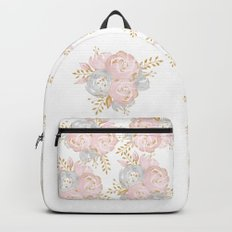 Roses Gold Glitter Pink by Nature Magick Backpacks
