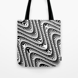 Black and White Serpentine Pattern Tote Bag