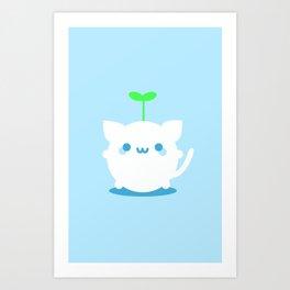 Kitten Sprout  Art Print