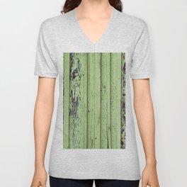 Rustic mint green grunge wood panels Unisex V-Neck