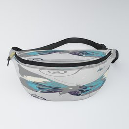 Butterflies At Night Fanny Pack