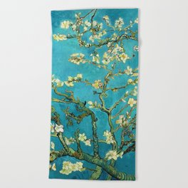 Vincent Van Gogh Blossoming Almond Tree Beach Towel