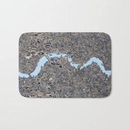 London color map city drawing illustration Thames Bath Mat