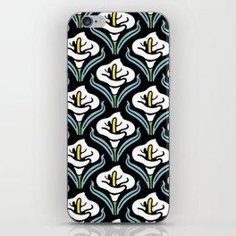 Calla Lily Pattern iPhone Skin