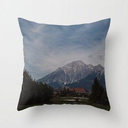 View of Austrian Alps Throw Pillow