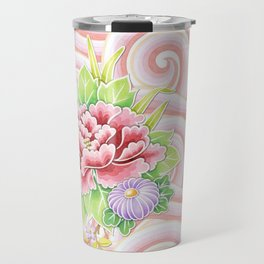 Pink Kimono Bouquet Travel Mug