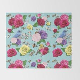 Martha's Garden Throw Blanket