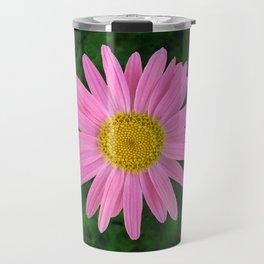 Pink Shasta Daisy Travel Mug