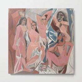 Pablo Picasso - Les Demoiselles d'Avignon Metal Print