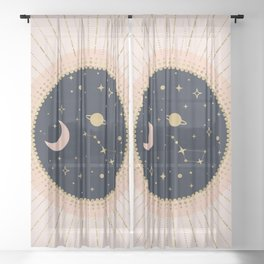 Love in Space Sheer Curtain