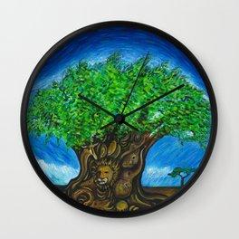 Starry Night Over Animal Kingdom Wall Clock
