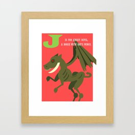 J is for Jersey Devil  Framed Art Print