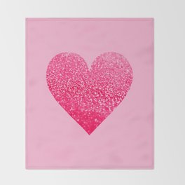 PINK PINK HEART Throw Blanket
