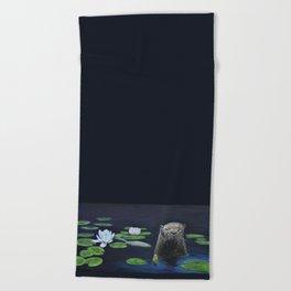 The River Otter by Teresa Thompson Beach Towel